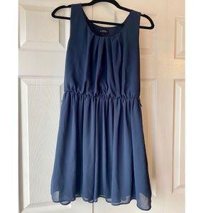 Sheer navy blue swing dress. Worn once.